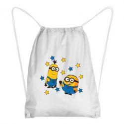 Рюкзак-мішок Minions and stars