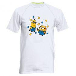 Чоловіча спортивна футболка Minions and stars