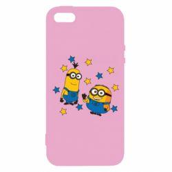 Чохол для iphone 5/5S/SE Minions and stars