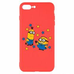 Чохол для iPhone 8 Plus Minions and stars