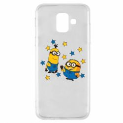 Купить DodStyle, Чехол для Samsung A6 2018 Minions and stars, FatLine