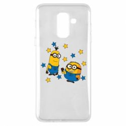Купить DodStyle, Чехол для Samsung A6+ 2018 Minions and stars, FatLine