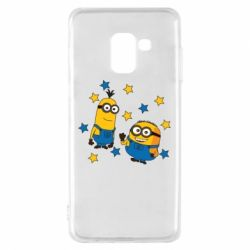 Купить DodStyle, Чехол для Samsung A8 2018 Minions and stars, FatLine