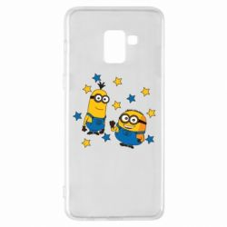 Купить DodStyle, Чехол для Samsung A8+ 2018 Minions and stars, FatLine