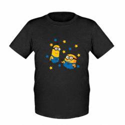 Дитяча футболка Minions and stars
