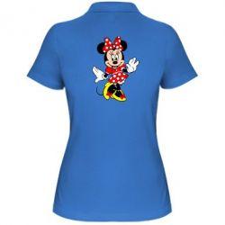 Женская футболка поло Минни Красавица - FatLine
