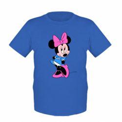 Детская футболка Минни стесняется