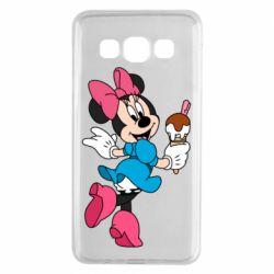 Чехол для Samsung A3 2015 Minnie Mouse and Ice Cream