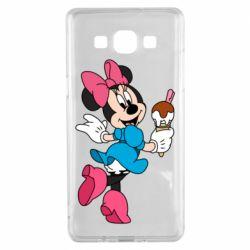 Чехол для Samsung A5 2015 Minnie Mouse and Ice Cream