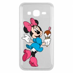 Чехол для Samsung J5 2015 Minnie Mouse and Ice Cream