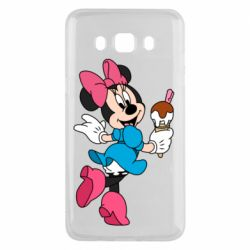 Чехол для Samsung J5 2016 Minnie Mouse and Ice Cream