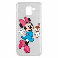 Чехол для Samsung J6 Minnie Mouse and Ice Cream