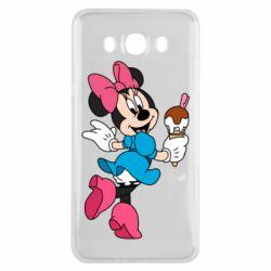 Чехол для Samsung J7 2016 Minnie Mouse and Ice Cream