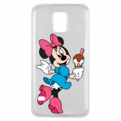 Чехол для Samsung S5 Minnie Mouse and Ice Cream