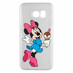 Чехол для Samsung S6 EDGE Minnie Mouse and Ice Cream