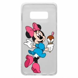 Чехол для Samsung S10e Minnie Mouse and Ice Cream