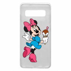 Чехол для Samsung S10 Minnie Mouse and Ice Cream