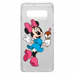 Чехол для Samsung S10+ Minnie Mouse and Ice Cream