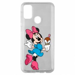 Чехол для Samsung M30s Minnie Mouse and Ice Cream