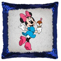 Подушка-хамелеон Minnie Mouse and Ice Cream