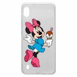 Чехол для Samsung A10 Minnie Mouse and Ice Cream