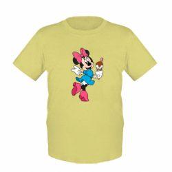 Детская футболка Minnie Mouse and Ice Cream