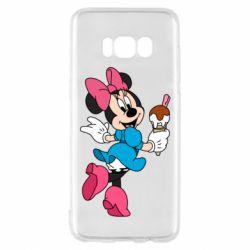 Чехол для Samsung S8 Minnie Mouse and Ice Cream