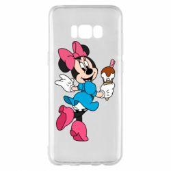 Чехол для Samsung S8+ Minnie Mouse and Ice Cream