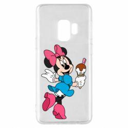 Чехол для Samsung S9 Minnie Mouse and Ice Cream