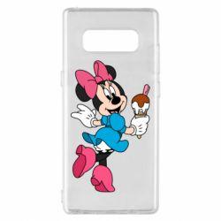 Чехол для Samsung Note 8 Minnie Mouse and Ice Cream