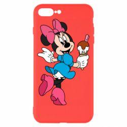 Чехол для iPhone 8 Plus Minnie Mouse and Ice Cream