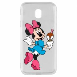 Чехол для Samsung J3 2017 Minnie Mouse and Ice Cream