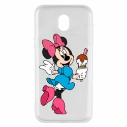 Чехол для Samsung J5 2017 Minnie Mouse and Ice Cream