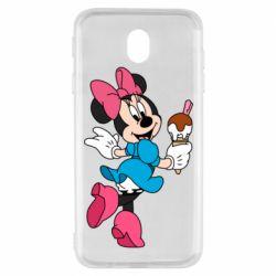 Чехол для Samsung J7 2017 Minnie Mouse and Ice Cream
