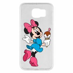 Чехол для Samsung S6 Minnie Mouse and Ice Cream