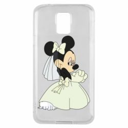 Чехол для Samsung S5 Minnie Mouse Bride