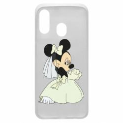 Чехол для Samsung A40 Minnie Mouse Bride