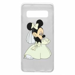 Чехол для Samsung S10 Minnie Mouse Bride