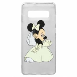 Чехол для Samsung S10+ Minnie Mouse Bride