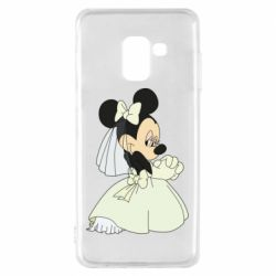 Чехол для Samsung A8 2018 Minnie Mouse Bride