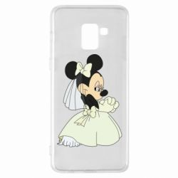 Чехол для Samsung A8+ 2018 Minnie Mouse Bride