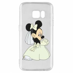 Чехол для Samsung S7 Minnie Mouse Bride