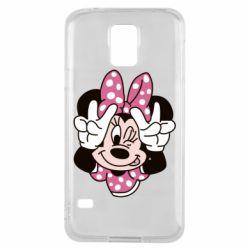 Чохол для Samsung S5 Minnie Mouse