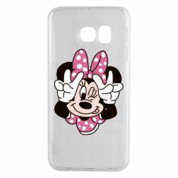 Чохол для Samsung S6 EDGE Minnie Mouse