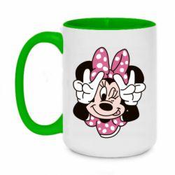 Кружка двоколірна 420ml Minnie Mouse