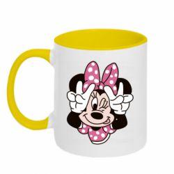 Кружка двоколірна 320ml Minnie Mouse
