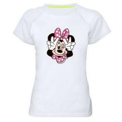 Жіноча спортивна футболка Minnie Mouse