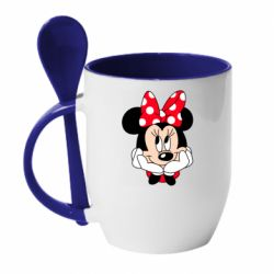 Кружка с керамической ложкой Minnie