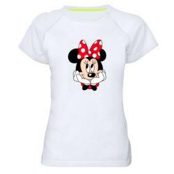 Женская спортивная футболка Minnie