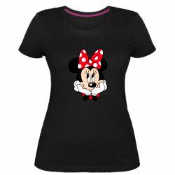 Женская стрейчевая футболка Minnie